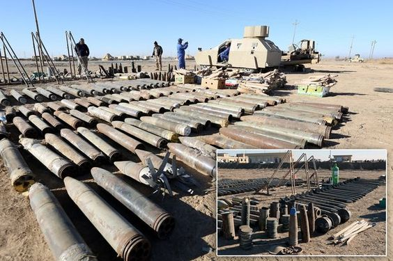 Pictured: ISIS weapons seized by Iraqi soldiers including savage truck bomb as Battle for Mosul rages #pictured #weapons #seized #iraqi…
