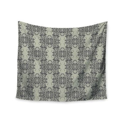 KESS InHouse Illusion Damask Silver by Mydeas Wall Tapestry Size: