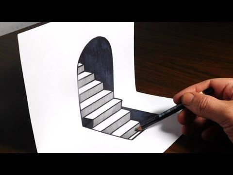 How To Draw 3d Steps Easy Trick Art Youtube 3d Art Draw Easy Howtobe Steps Trick You Optical Illusion Drawing Art Optical Illusion Drawings