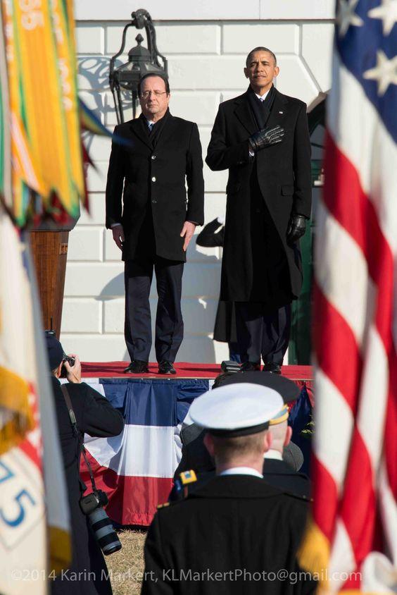 President Hollande (France) and President Obama, Arrival Ceremony at White House