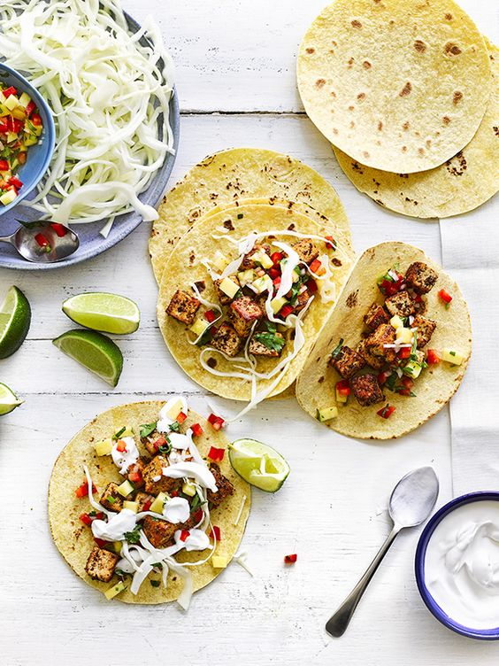 Tofu doesn't have to be boring with this recipe for cajun tofu tacos. They're vegan, low calorie, and only need 30 minutes cooking time.