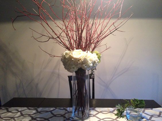 Simple, chic and inexpensive centrepiece!