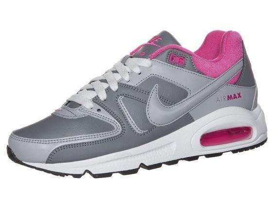Dames Nike Air Max Command Leer Gris - Roze - Antraciet Grijs,HOT SALE!