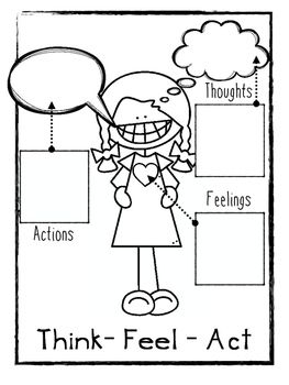 Freebie! Think Feel Act Worksheets  - repinned by @PediaStaff – Please Visit ht.ly/63sNtfor all our pediatric therapy pins