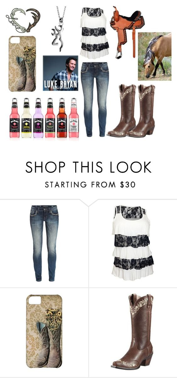 """""""Afternoon ride🐴"""" by horses4ever1322 ❤ liked on Polyvore featuring Miss Me and Ariat"""