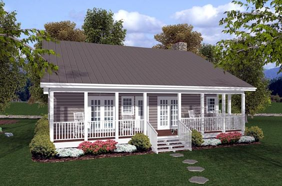 House plans house and search on pinterest for Cottage house plans with back porches