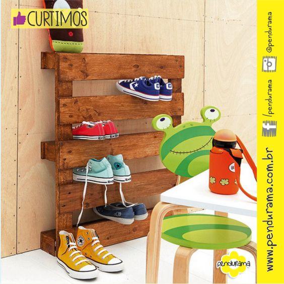 Olha só que ideia muito simples e bacana para aproveitar aquele bom e velho 'pallet', nós #curtimos ;-)