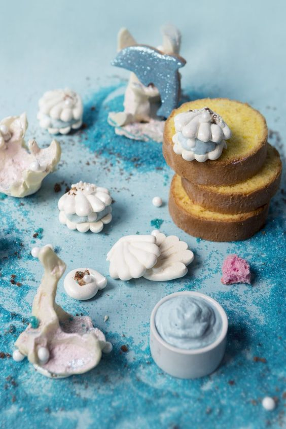 Sous l'océan - coquillage molly cake