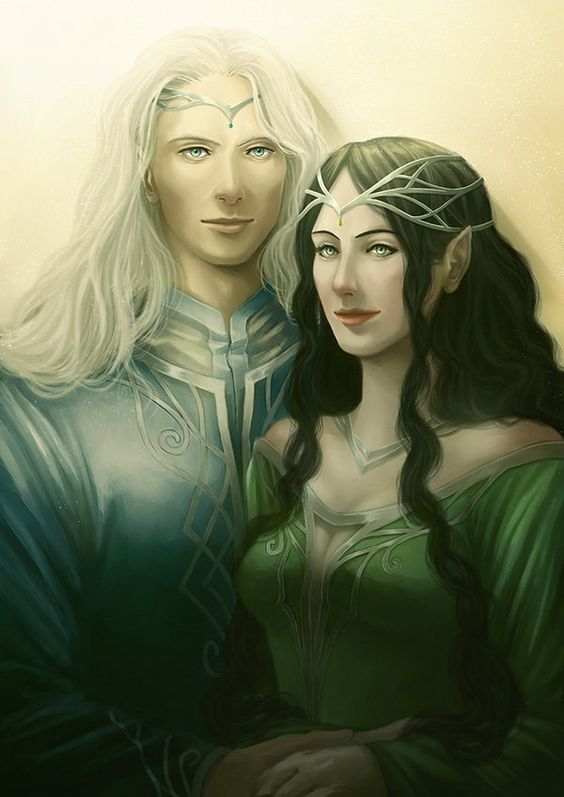 Commission: Melian and Thingol by AlaisL on deviantART. Thingol was 9 feet tall! How did those dwarves kill him?: