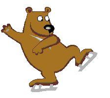 Animierte Bären Gifs: Freizeit - Gif-Paradies