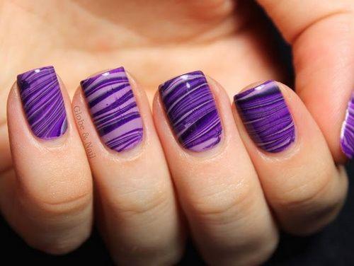 70 Ideas para pintar o decorar uñas color Púrpura \u2013 Purple nails