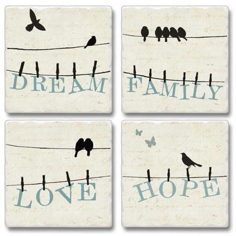 Bird Talk Set Of 4