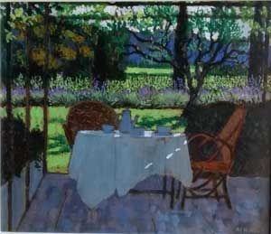 Mike Hall original 'Tea by the Vineyard':