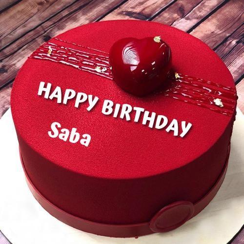 Happy Birthday Wishes Elegant Red Heart Cake With Name Birthday Cake For Him Cake Name Birthday Wishes Cake