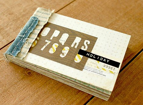 mini album with book binding instructions  (Crate Paper)