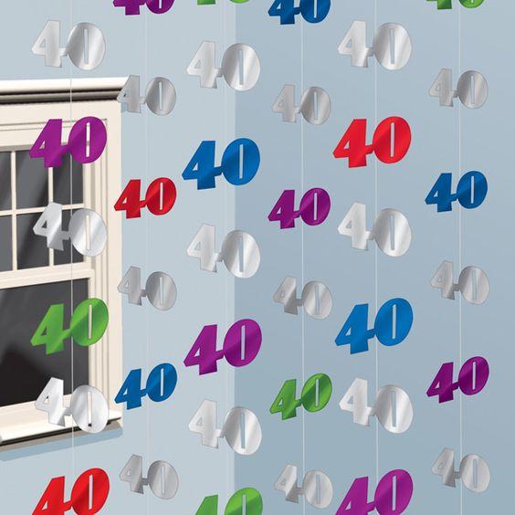 Decorados colgantes para un 40 cumplea os de www for Decoracion 40
