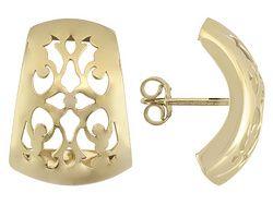 Splendido Oro(Tm) 14k Yellow Gold Scudoro Huggie Earrings   Made In Italy