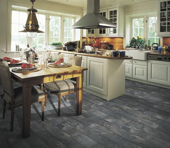 Laminate flooring slate and flooring on pinterest for Laminate floor coverings for kitchens