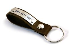 SWIM BIKE RUN - Empower Word Key Ring (Also available in black leather)
