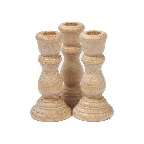 Candlestick 3 In 2020 Wood Candle Sticks Wooden Candle Sticks Unfinished Wood Crafts