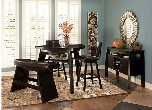 Forrest Bar-Height Dining Table: Dining Room Sets, Swivel Bar Stools, Dining Table, Kitchen Dining Room