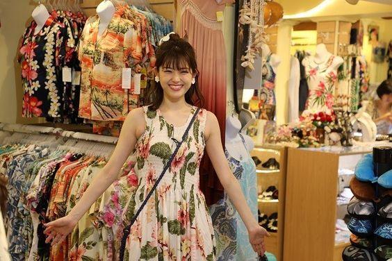 アロハファッションな松村沙友理