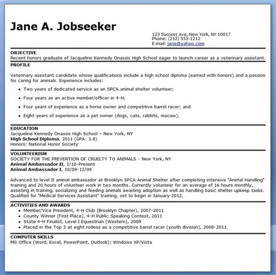 Resume help cross stock