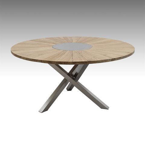 Mod le solstice capacit maximale 8 personnes description table ronde avec plateau rotatif - Table ronde 6 personnes ...