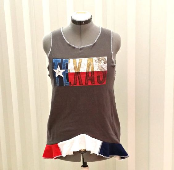 Texas Tank Top Plus Size Tank Top XL XXL Womens by CandyStickLane, $45.00