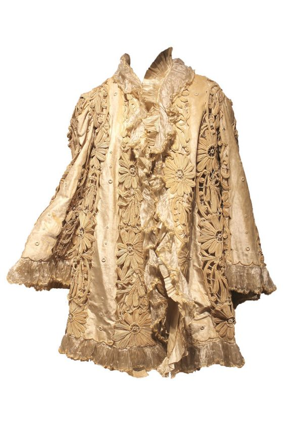 Heavy Victorian Coat with Crochet and Embroidery on by parasail212, $1500.00