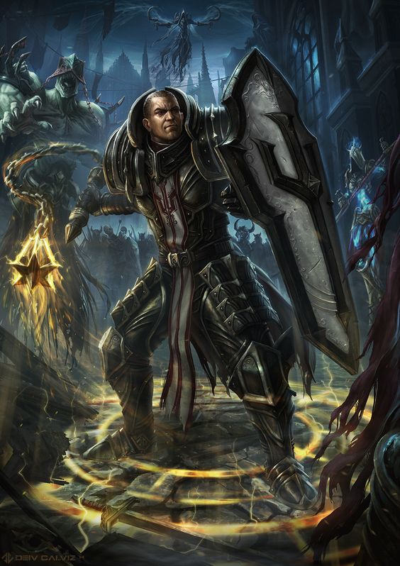 Diablo 3 Crusader Fanart!   Deiv Calviz - Concept Art and Illustration