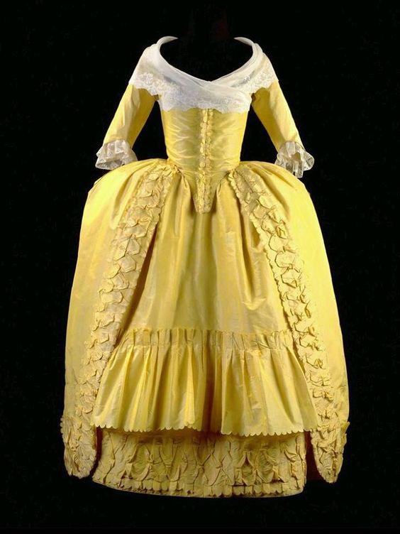1780-1782, the Netherlands  Silk Robe à la Polonaise  Gemeentemuseum Den Haag