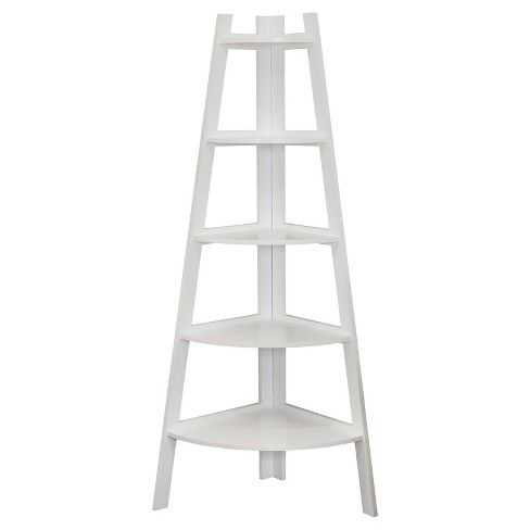 Shelving Unit White Target Corner Ladder Shelf Ladder Shelf