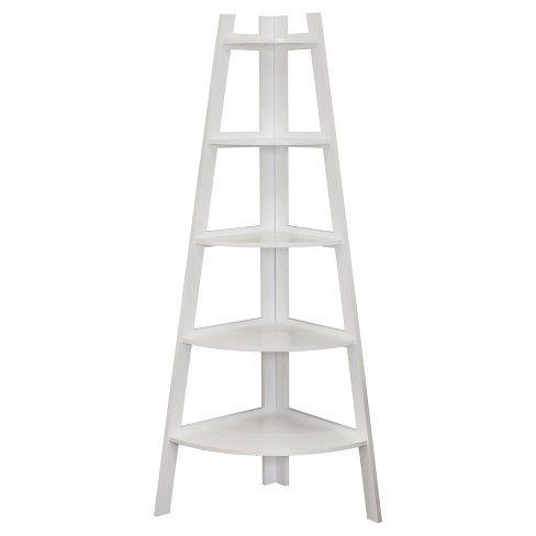 Shelving Unit White Target Corner Ladder Shelf Ladder Shelf