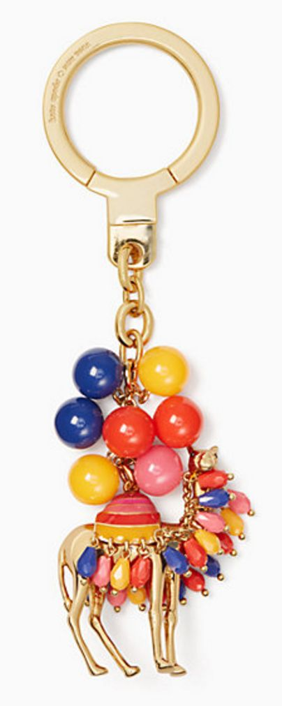 Jeweled camel keychain
