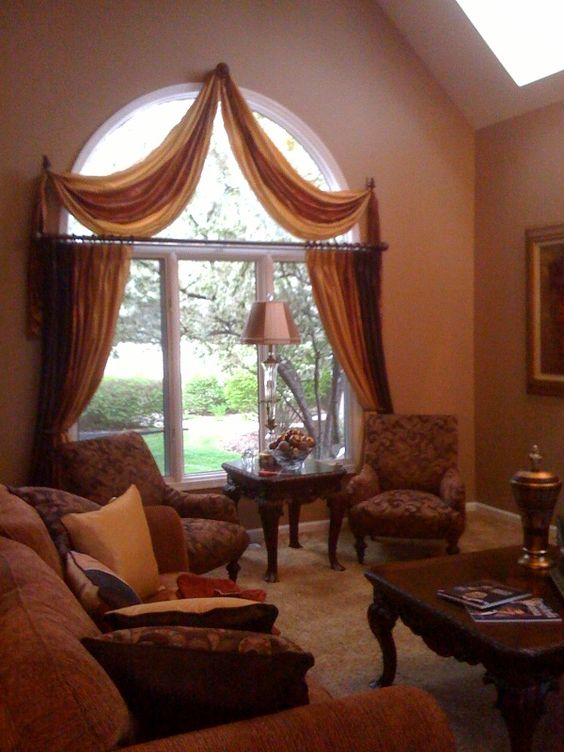 Beautiful window treatments and arched window treatments for Beautiful window treatments