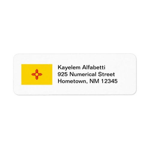 Address Labels State Flag New Mexico