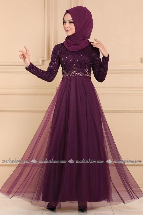 Modaselvim Evening Dresses Evening Wear Asm2205 Damson The Dress Aksamustu Giysileri Elbiseler