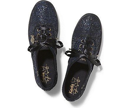 champion sparkle lace keds flats