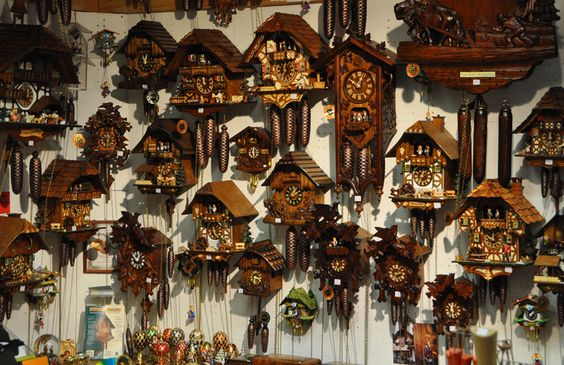 German cuckoo clocks! I always wanted to see one up close. A traditional piece of folk art at its finest.