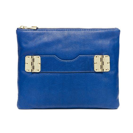 Bowdoin Crossbody Clutch, Cobalt - Hayden-Harnett Handbags & Accessories Online Store