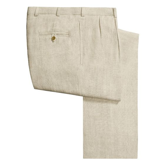 Pleated Linen Pants Mens