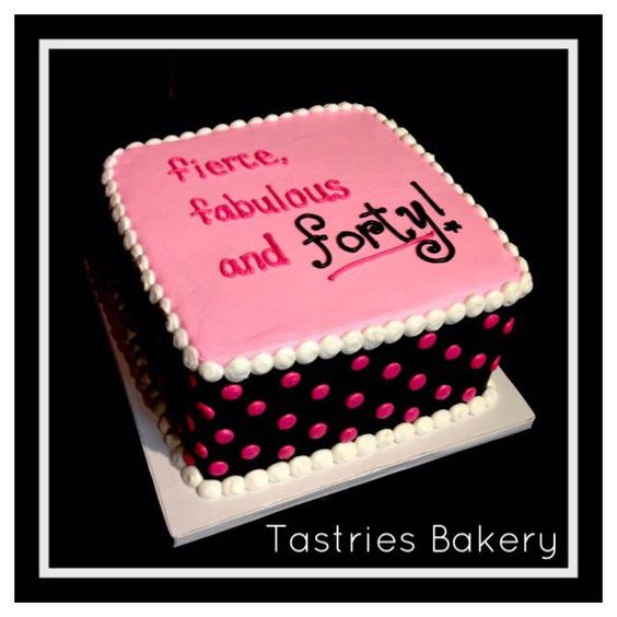 Cake Ideas For Female Birthday : Birthday cakes for women, Cakes for women and 40th ...
