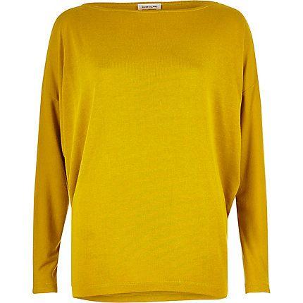Dark yellow batwing top £22.00