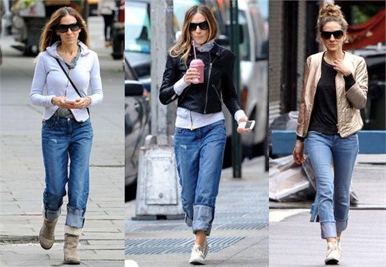 Jeans? Solo arrotolati! Must have di tutti i guardaroba e capo preferito per le giornate casual dell'attrice. Stiamo parlando dei jeans che, sia in versione baggy che skinny, si portano arrotolati e rigorosamente con scarpe flat.