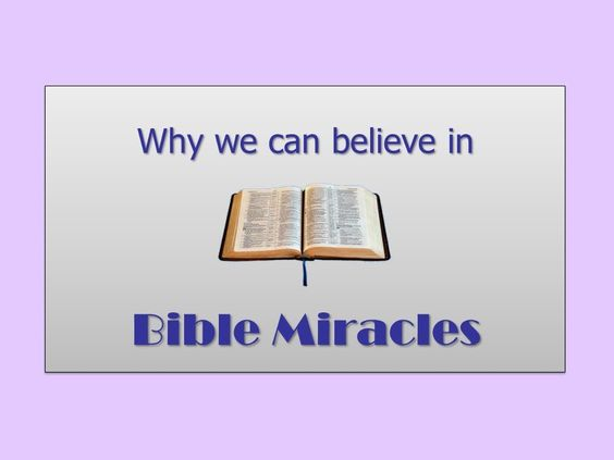 Why we can believe in Bible Miracles - David Burgess