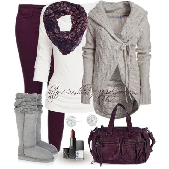 Adorable  cardi.  I need a white top like this. Love everything but the tall boots