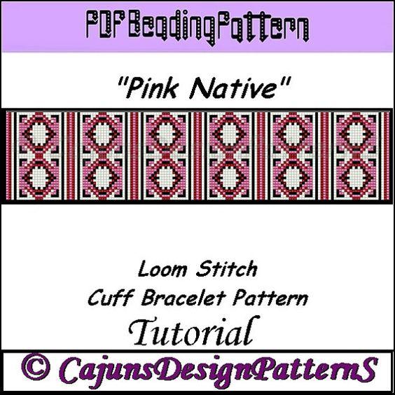 PINK NATIVE Native Inspired Loom Beaded by CajunsDesignPatternS, $4.50