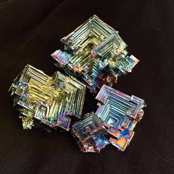Bismuth is one of the main ingredients of Pepto-Bismol, a fact that is not widely known! These crystals' formation is what makes them unique, as well as something many collectors will find fascinating