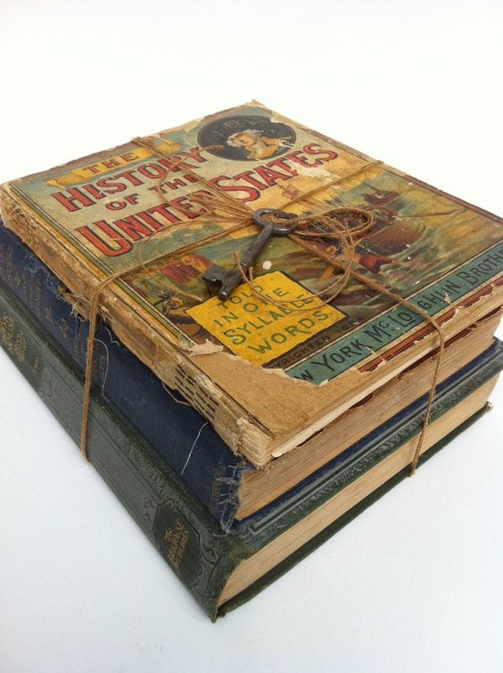 Antique Childrens Books Collection of 3 by AlteredArcheology, $22.00